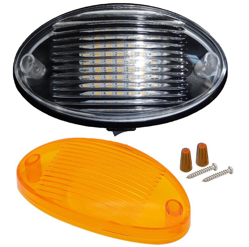 Black 12v LED Caravan Light with Switch
