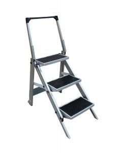 Triple folding portable caravan step ladder