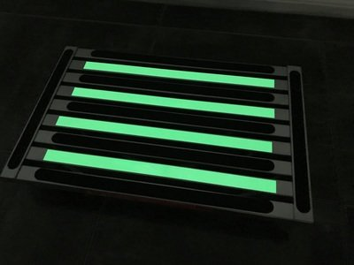 Illuminating extra large platform portable folding step