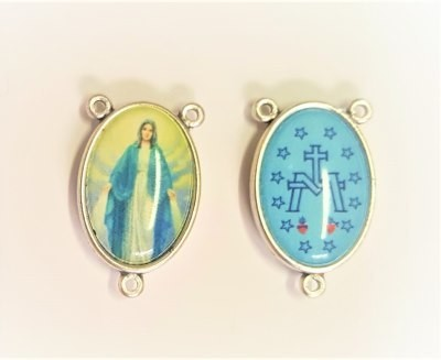 Medaille voor rozenkrans/paternoster gekleurd