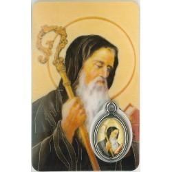 Benedictus Kaartje met Medaille en Gebed