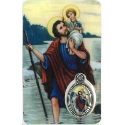 Kristoffel Kaartje met Medaille en Gebed