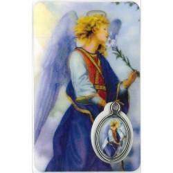 Aartsengel Gabriel Kaartje met Medaille en Gebed