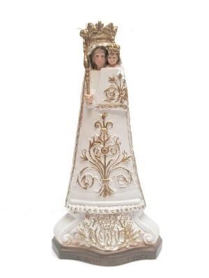 Onze Lieve Vrouw Scherpenheuvel 15 cm  WIT-GOUD