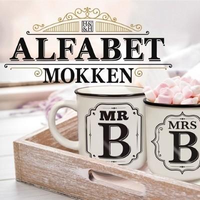 """Alfabet Mokken - KIES UW LETTER- """"MRS"""""""