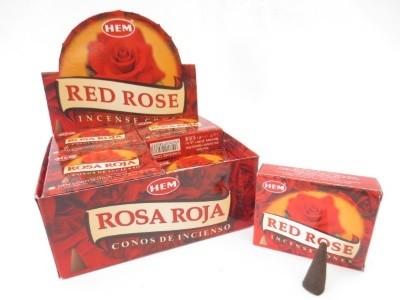 Rode Roos kegeltjes wierook