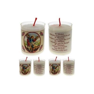 Set van 4 kaarsen MICHAEL- 5 Talen -
