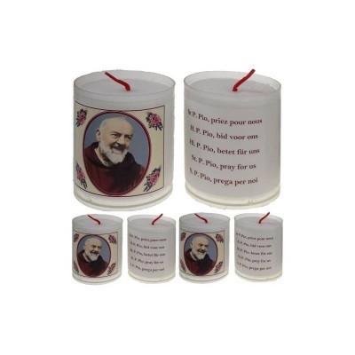 Set van 4 kaarsen PATER PIO - 5 Talen -