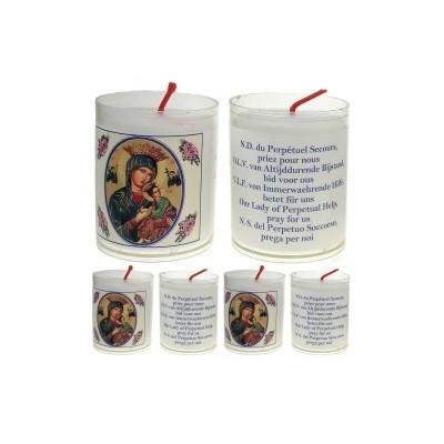 Set van 4 kaarsen ALTIJD DURENDE BIJSTAND - 5 Talen -