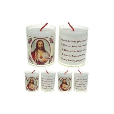 Set van 4 kaarsen HEILIG HART - 5 Talen -