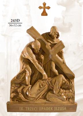 Kruisweg Houtkleur 36 x 52cm  Kunststof