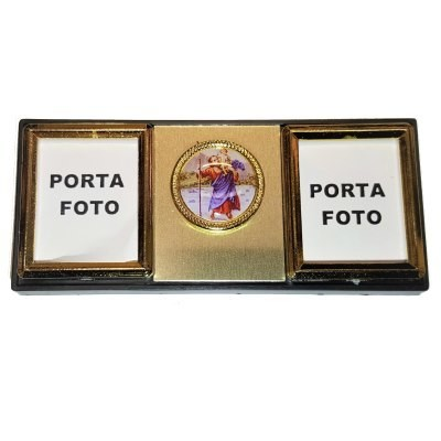 Fotokader met Kristoffel en magneet 9 x 4 cm