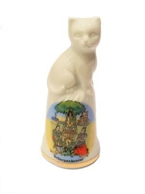 Vingerhoed Scherpenheuvel  Porselein met kat
