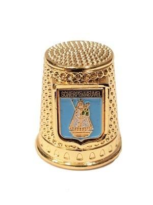 Vingerhoed Scherpenheuvel Metaal goud met doosje