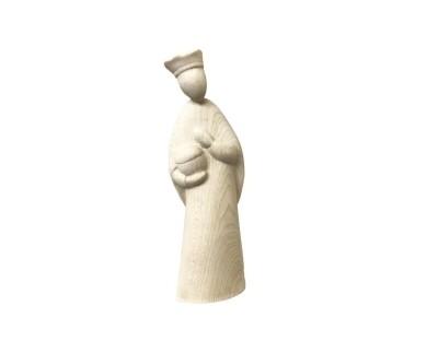 """Koning """"Stella-set 14 cm naturel hout"""""""