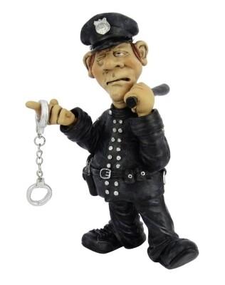 politie met handboeien