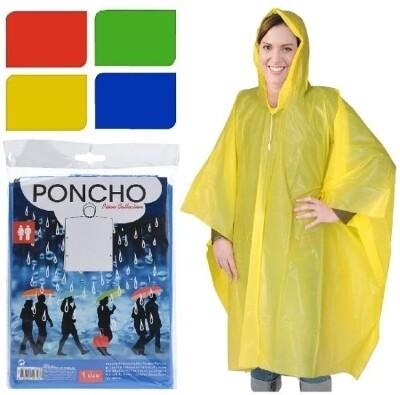 Poncho voor de regen 4 verschillende kleuren