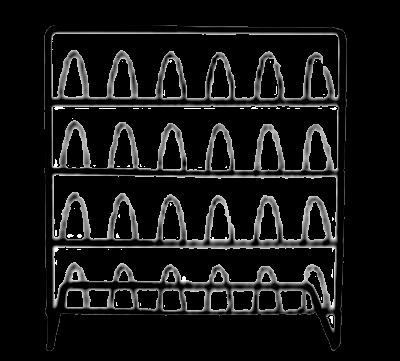 Vingerhoedrekje in metaal zwart 17x8.5x17.5 cm
