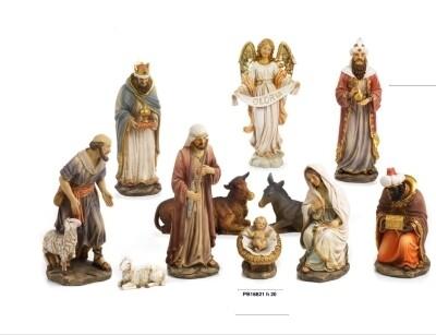 Kerstset 11 figuren 20 cm