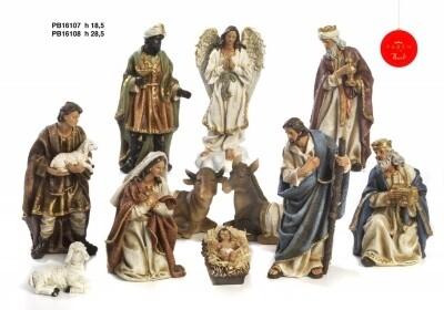 Kerstset 11 figuren 18.5 cm