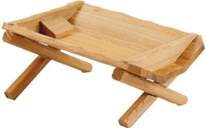 Kribbe in hout 9x5x3.5 cm