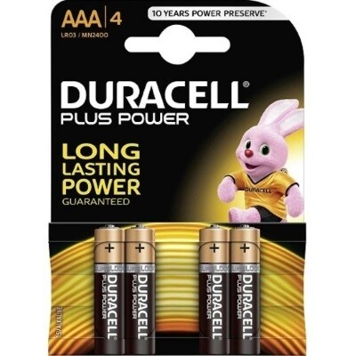 Duracell Batterijen  -Pack van 4-  LR03 of