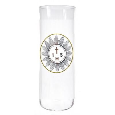 Glas voor kaars 28 cm - Noveenglas - Godslamp -