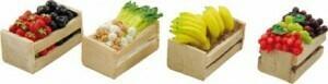 Bakje groenten & fruit set van 4  3x2x2 cm