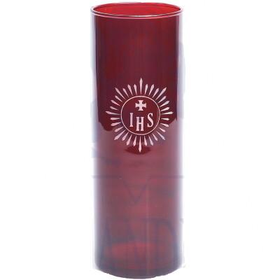 Glas voor kaars 22 cm - Noveenglas - Godslamp