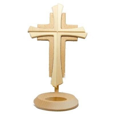 Kruis staand in hout 25 cm