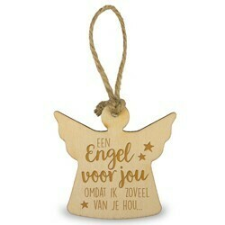 Houten Engeltje 6 cm -een engel voor jou omdat ik zoveel van je hou