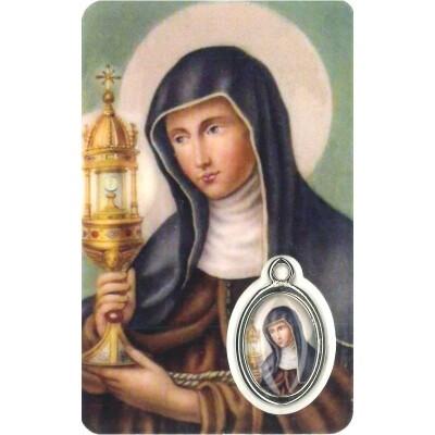 Clara Kaartje met Medaille en Gebed