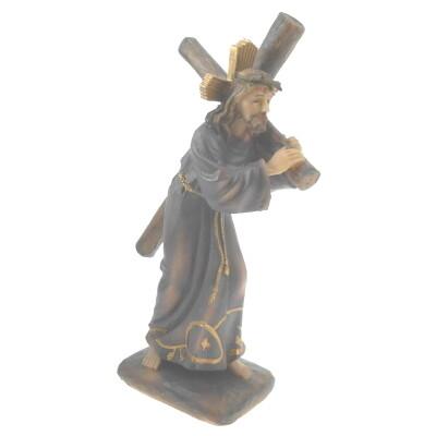 Beeld Jezus draagt kruis 19 cm