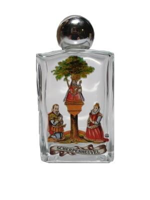 Flesje in glas Scherpenheuvel - wijwater - 10 cm