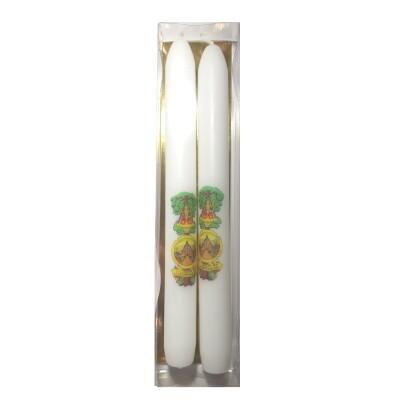 Set van 2 kaarsen 22 cm in doosje SCHERPENHEUVEL