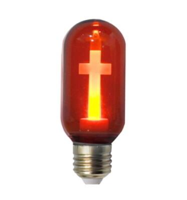 Kruislamp E27 220V LED ROOD