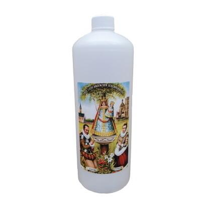 Fles voor wijwater 1L met OLV Scherpenheuvel
