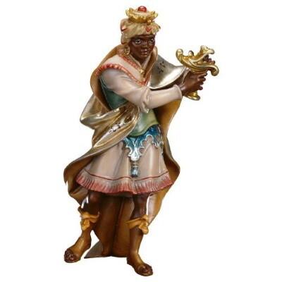 Koning Caspar in houtsnijwerk 15 cm gekleurd