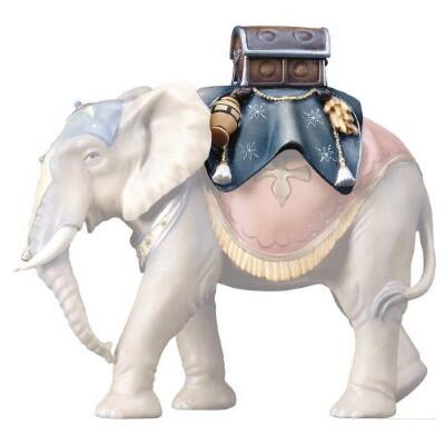 Bagage van Olifant staand voor 15 cm figuren gekleurd