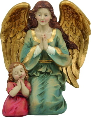 Engel met meisje 15 cm