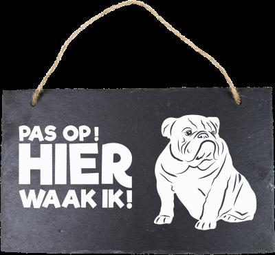 Engelse Bulldog Leisteen 15 x 15 cm