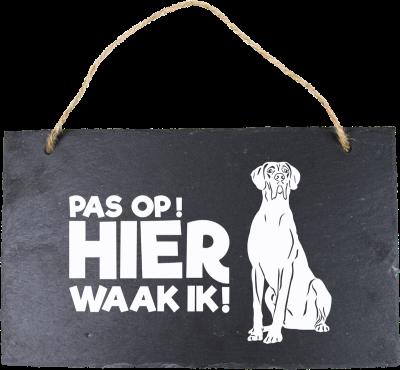 Deense-Duitse Dog Leisteen 15 x 15 cm