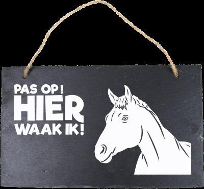 Paardenhoofd Leisteen 15 x 15 cm
