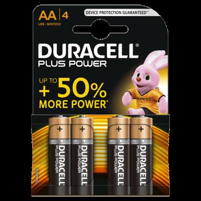 Duracell Batterijen  -Pack van 4-  LR6 of