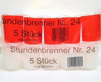 Urenbrander Nr 24 pak van 5 stuks  -KIES DE GEWENSTE KLEUR-