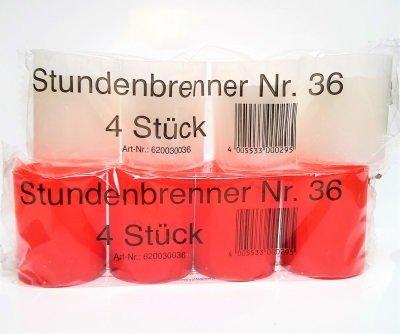 Urenbrander Nr 36 pak van 4 stuks  -KIES DE GEWENSTE KLEUR-
