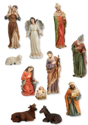 Set van 11 figuren  16 cm
