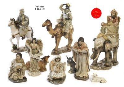 Set van 10 figuren  31 cm