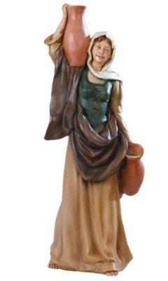 Vrouw met Kruik, onbreekbaar materiaal, voor figuren van 40 cm