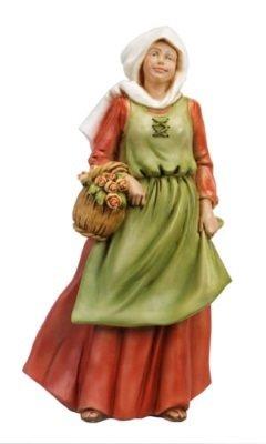 Vrouw met Bloemen, onbreekbaar materiaal, voor figuren van 40 cm